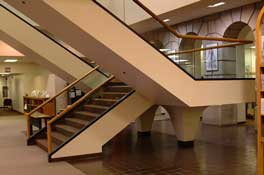 photo of HSL main staircase circa 2003