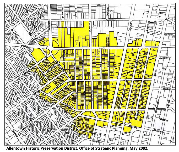 Allentown map -- click map to view original