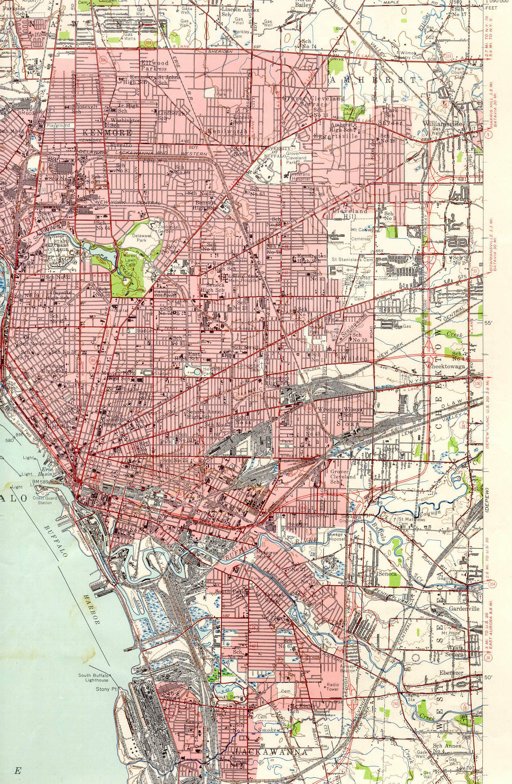 Historic Buffalo Topographic Maps Research Guides At University