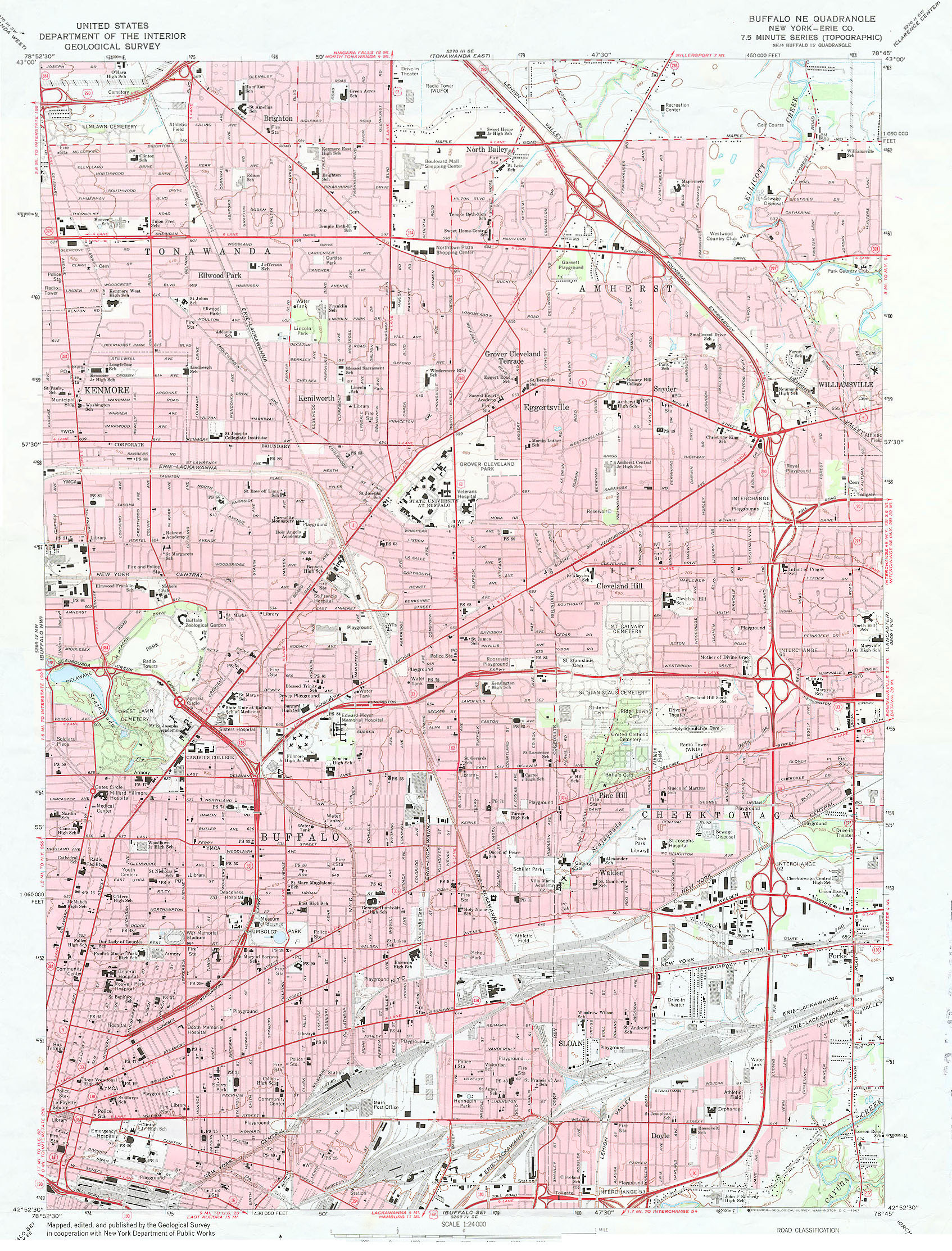 Topographic Maps University At Buffalo Libraries - Usgs quad maps