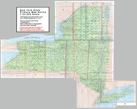 Topographic Map New York State.Map Indexes Finding Guides University At Buffalo Libraries