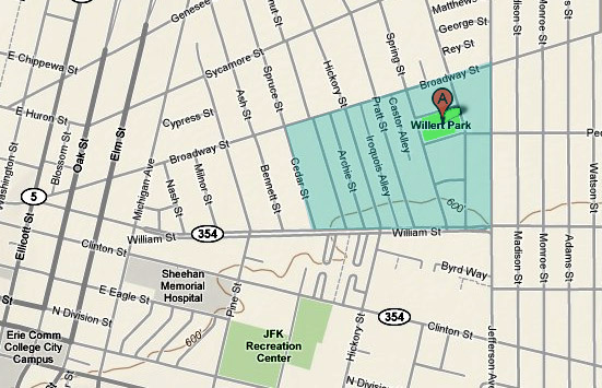 Willert Park area map