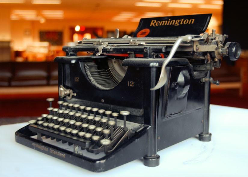A remington typewriter