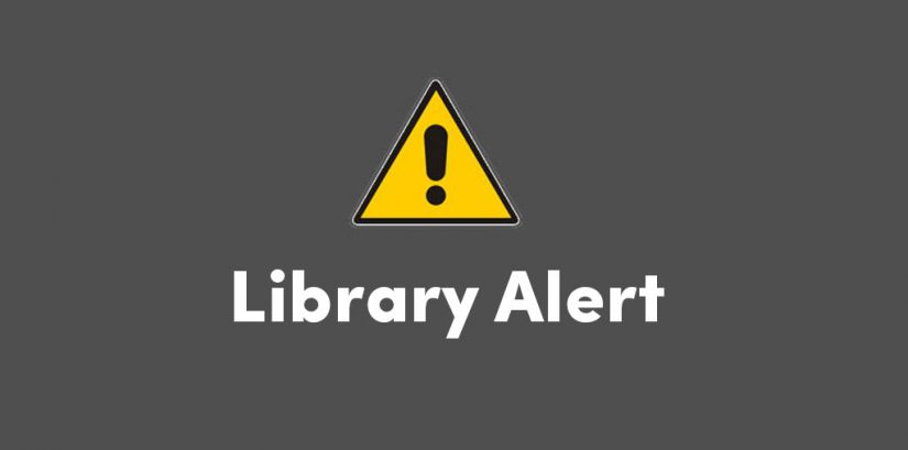 Library alert alert