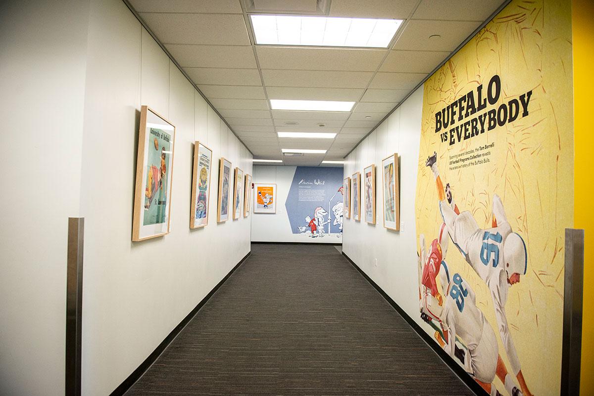 Photo of Buffalo vs Everybody exhibition hallway