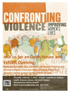Poster for Domestic Violence Exhibit Opening
