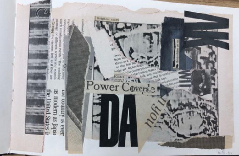 collage from artist's book C: tableau, lyrique et que, 1988