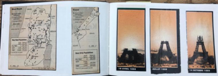 collage from artist's book, C: tableau, Lyrique et Que, 1988 image 3