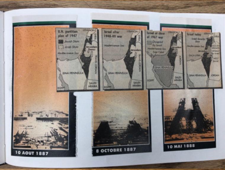 collage from artist's book C: tableau, lyrique et que, 1988 image 4