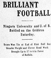 Brilliant football. Niagara University and U of B battle on the gridiron Saturday