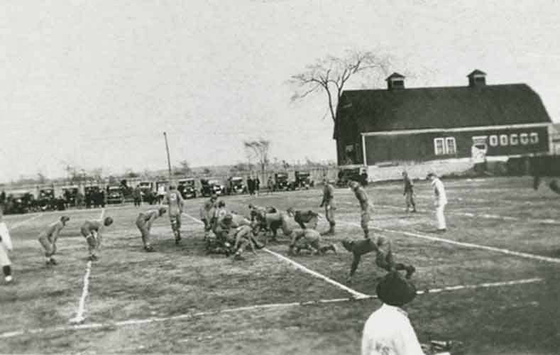 Practice before Rotary Field was built
