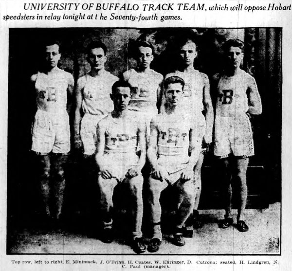 University at Buffalo Track Team, 1918