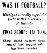 Was it Football? Michigan literally wiped the Field with University of Buffalo